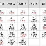 Aprendiendo japonés: Los días del mes
