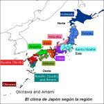 El clima de Japón según la región